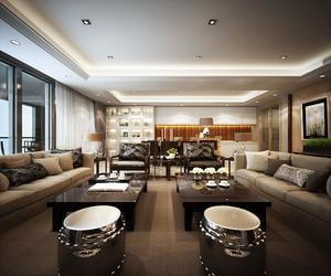 198平米后现代简约风格精致典雅三居室装修效果图赏析