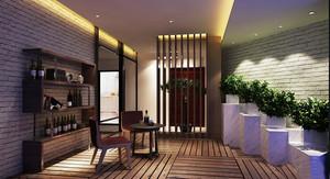 16平米新中式风格酒柜设计装修效果图