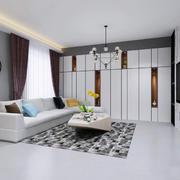 后现代极简主义风格客厅吊灯装修效果图