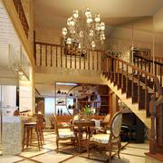 200平米欧式风格别墅室内楼梯装修效果图鉴赏