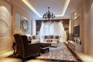 216平米欧式低调奢华风格别墅室内装修效果图鉴赏