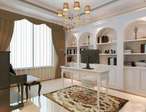 欧式风格别墅室内书房设计装修效果图赏析