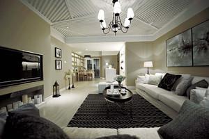156平米简约欧式风格两室两厅一卫装修效果图赏析