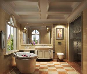26平米欧式风格别墅室内卫生间折叠门装修效果图