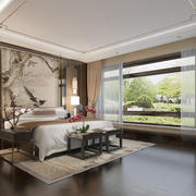 30平米现代简约风格卧室背景墙装修效果图赏析