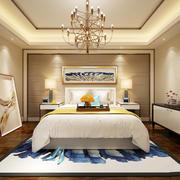 简欧风格三居室主卧室地毯装修效果图