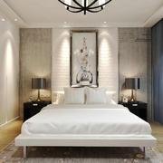 现代简约中式风格卧室挂画设计装修效果图