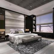 简约新中式风格大户型卧室飘窗设计装修效果图鉴赏