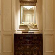 古典欧式风格别墅室内玄关鞋柜装修效果图赏析
