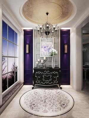 精致法式风格别墅室内玄关吊顶设计装修效果图