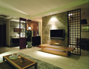 简约东南亚风格一室一厅一卫装修效果图