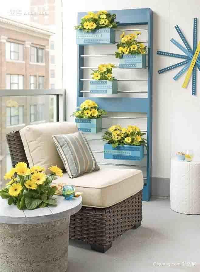 单身公寓地中海风格阳台设计效果图鉴赏