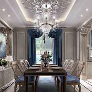 2016大户型欧式餐厅室内设计装修效果图鉴赏