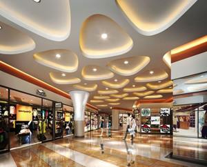139平米现代简约风格商场商铺装修效果图鉴赏