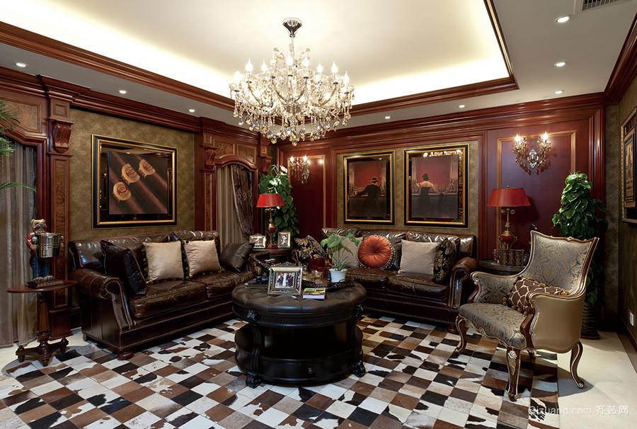 300古典欧式风格两层别墅室内整体设计装修效果图