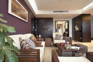 89平米现代中式风格一居室装修效果图赏析