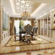欧式宫廷风格格别墅室内餐厅酒柜设计装修效果图