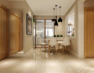 简约日式风格大户型室内餐厅厨房隔断设计装修效果图