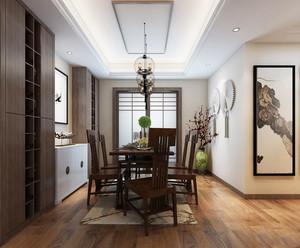 现代简约中式风格餐厅创意吊灯设计装修效果图