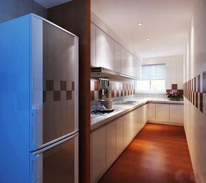 8平米现代简约风格长方形厨房设计装修效果图