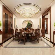 16平米简约中式风格餐厅吊顶设计装修效果图赏析