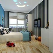 20平米简约地中海风格儿童房设计装修效果图