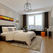 简约后现代风格卧室飘窗设计装修效果图赏析