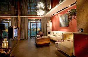 东南亚风格混搭客厅设计装修效果图