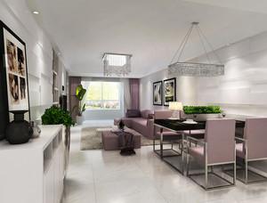 现代简约风格两室两厅客厅餐厅设计装修效果图鉴赏