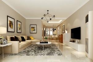 现代简约风格客厅地毯设计装修效果图赏析