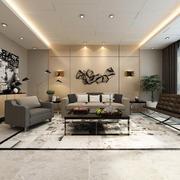 简约后现代风格客厅挂画装修效果图鉴赏