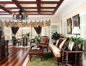 326平米美式乡村风格别墅室内装修效果图赏析