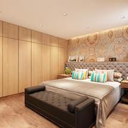 20平米简约日式风格卧室衣柜设计装修效果图
