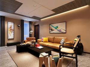 36平米现代简约风格客厅吊顶设计装修效果图鉴赏