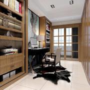 10平米现代中式风格大户型室内书房设计装修效果图