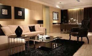 136平米现代简约风格单身公寓装修效果图赏析