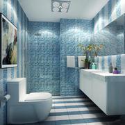 简约地中海风格卫生间马赛克瓷砖设计装修效果图