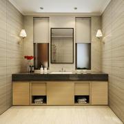 新中式风格卫生间储物柜设计装修效果图