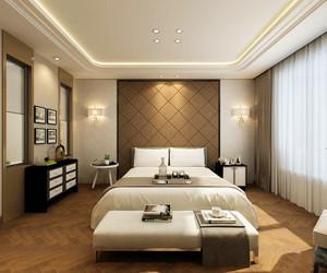 两室两厅简欧风格卧室窗帘设计装修效果图