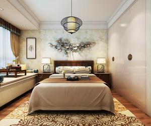 36平米新中式风格卧室榻榻米设计装修效果图赏析