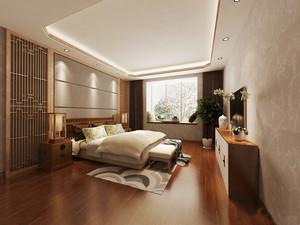 大户型东南亚风格卧室飘窗设计装修效果图