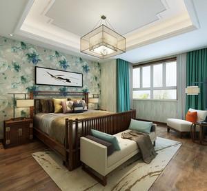 简约东南亚风格卧室墙纸装修效果图赏析