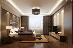 后现代风格三居室室内卧室吊顶装修效果图
