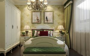 欧式田园风格女生卧室衣柜设计装修效果图