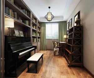 20平米中式风格书房设计装修效果图