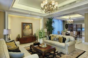 156平米欧式田园风格三室两厅一卫装修效果图赏析