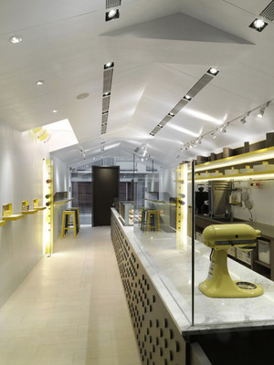 50平米现代简约风格商场蛋糕店设计装修效果图