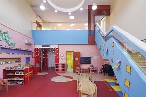 210平米现代简约风格幼儿园教室墙体彩绘设计装修效果图