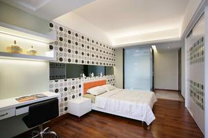 176平米现代简约中式风格四室两厅两卫装修效果图