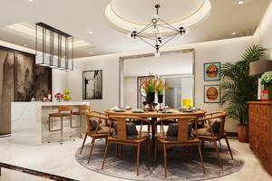 新中式风格餐厅餐桌摆件装修效果图赏析